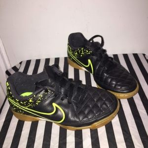 Black and Neon Green Nikes